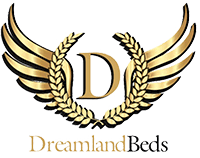 A logo for the Dreamland Beds brand