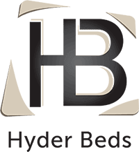 A logo for the Hyder Beds brand
