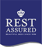 A logo for the Rest Assured Mattresses brand